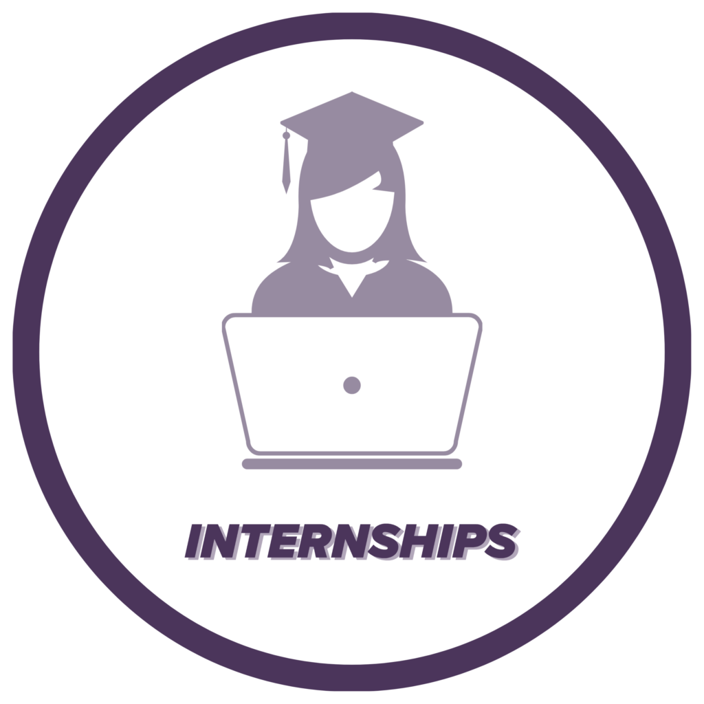 Internships icon, click to learn more